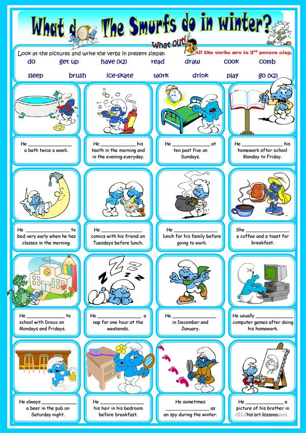 Smurfs Daily Routine
