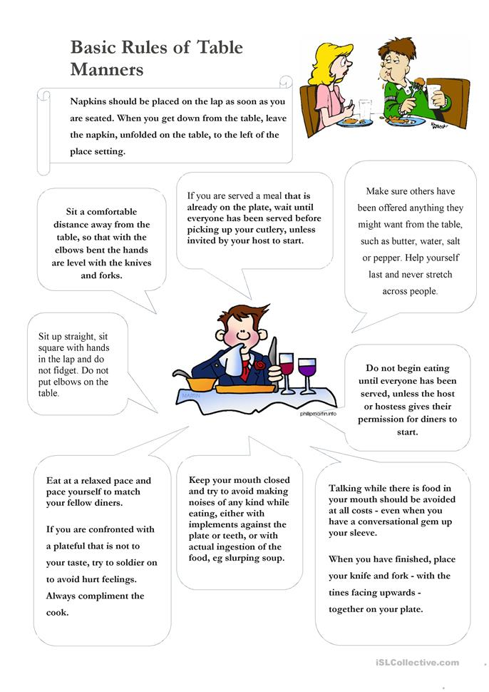 Worksheets Table Manners Worksheet table manners worksheet free esl printable worksheets made by teachers