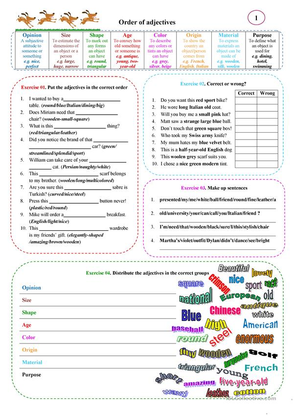 Exceptional image throughout adjectives printable worksheets