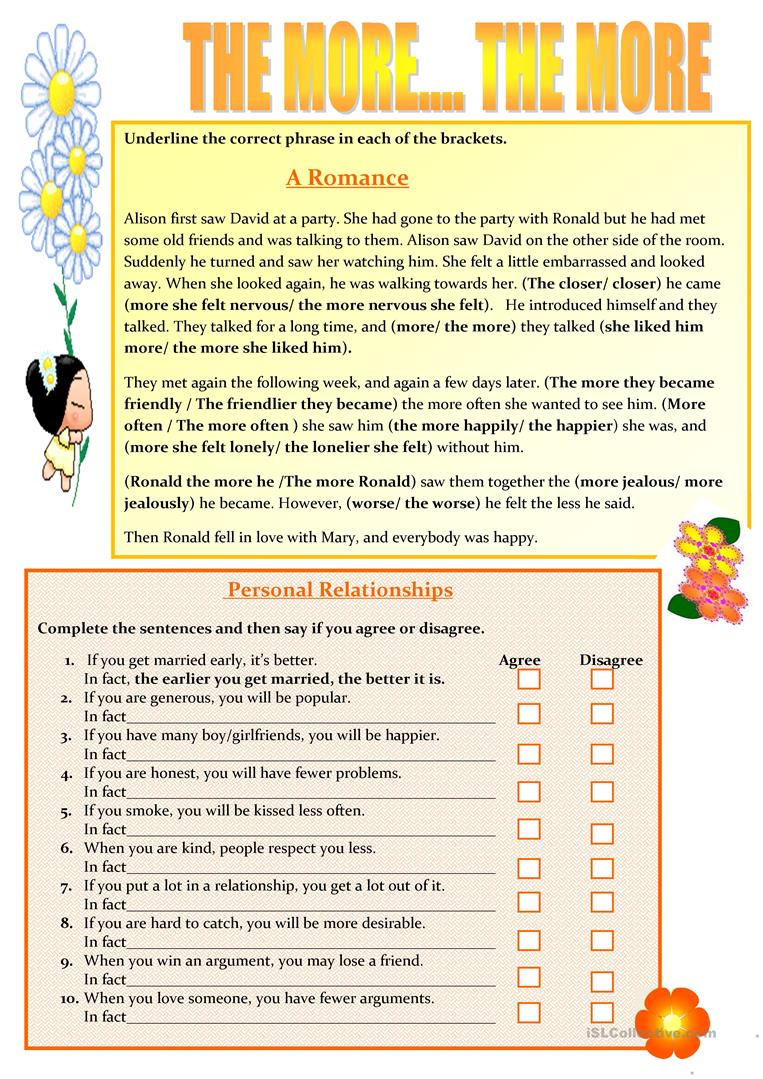 capítulo esclavo Lleno  The More the More - English ESL Worksheets for distance learning and  physical classrooms