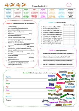 Mental Maths Worksheets Year 5 Pdf  Free Esl Adjectives Order Of Adjectives Worksheets Fractions Division Worksheets Excel with Comprehension Worksheets 1st Grade Pdf Order Of Adjectives  Worksheet On Reflexive Pronouns