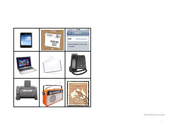 Communication devices bingo