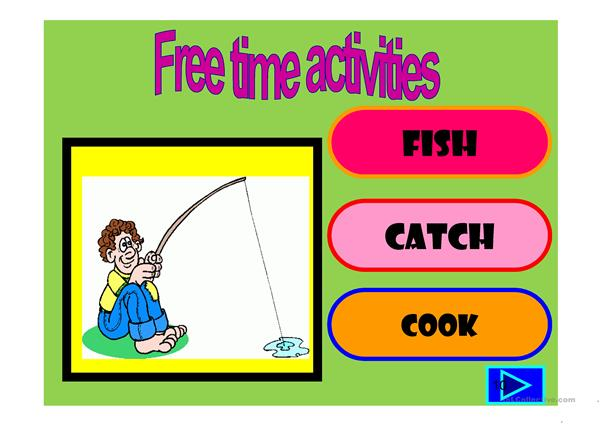 Free time activities: multiple choice activity