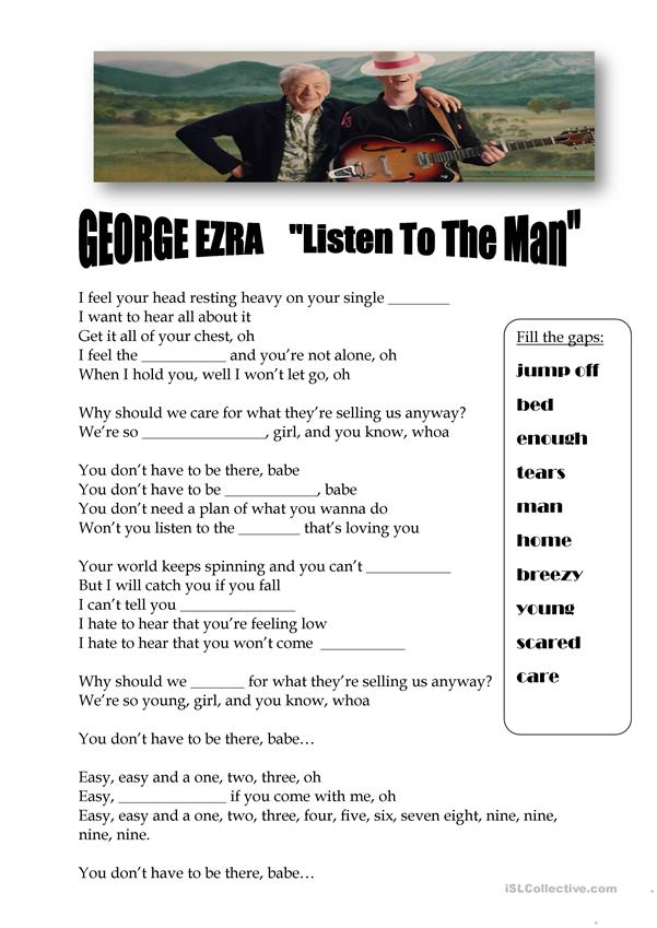 George Ezra - Listen to the man Song