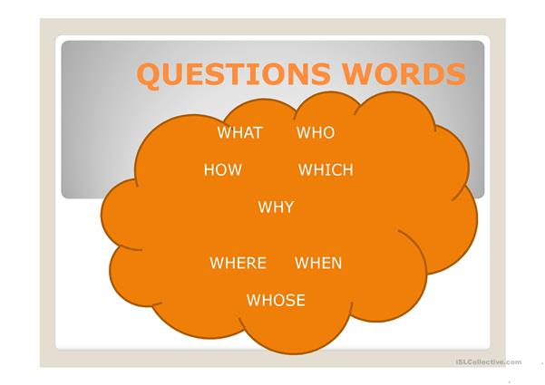 QUESTIONS WORDS