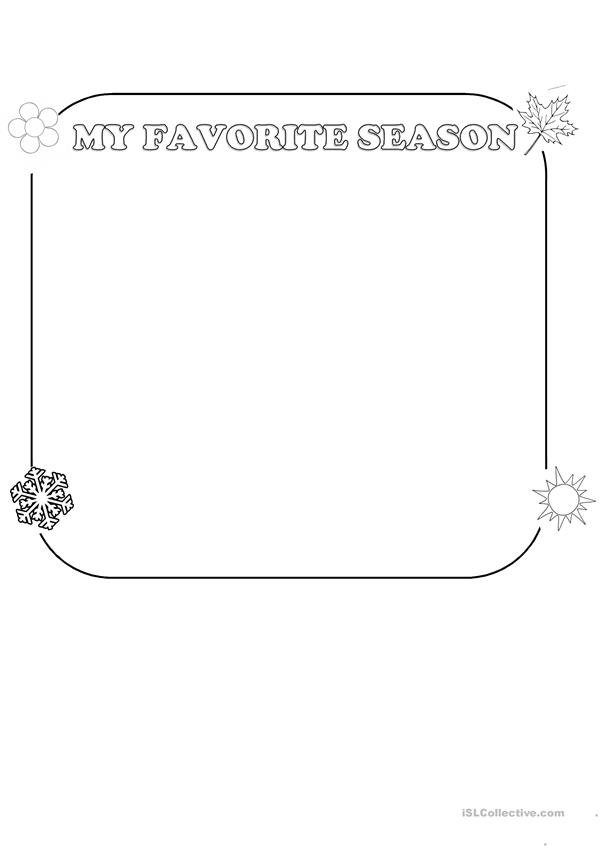 Seasons-writing activity