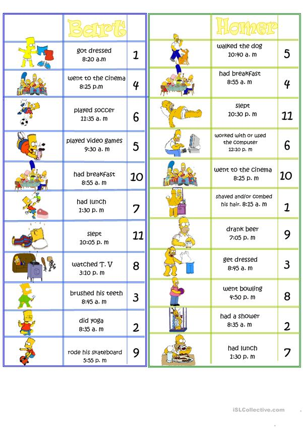 Simpsons Boardgame Daily Routine
