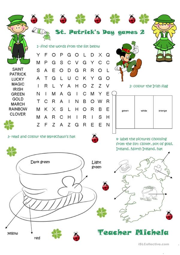 St Patrick's Day games 2