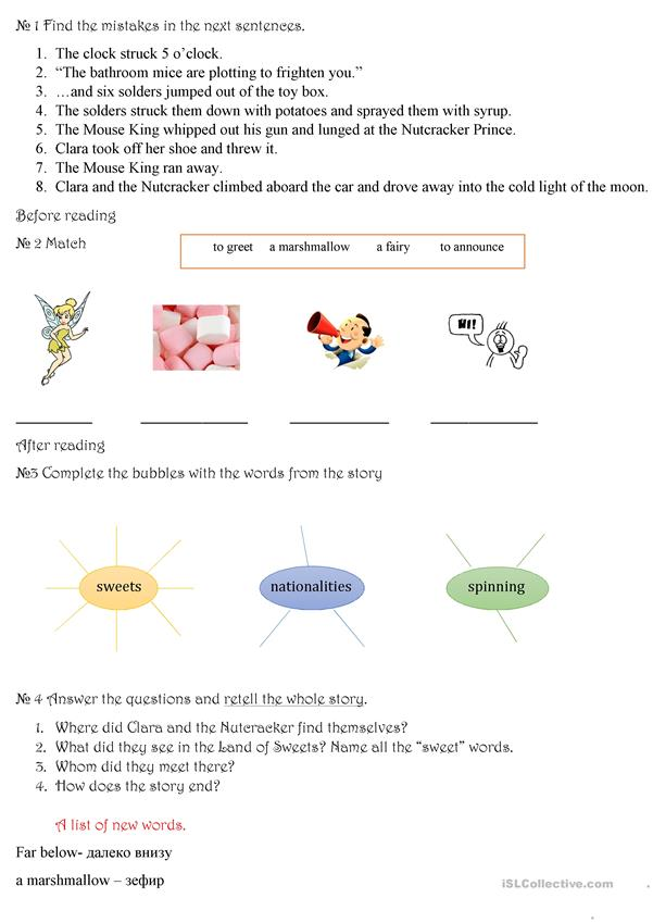 photograph about Nutcracker Worksheets Printable identify The Nutcracker - English ESL Worksheets