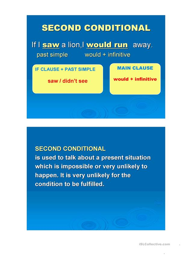 THE SECOND CONDITIONAL EXPLANATION