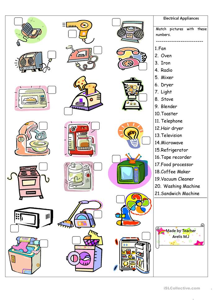 Kitchen Utensils And Appliances Worksheet Answers 111