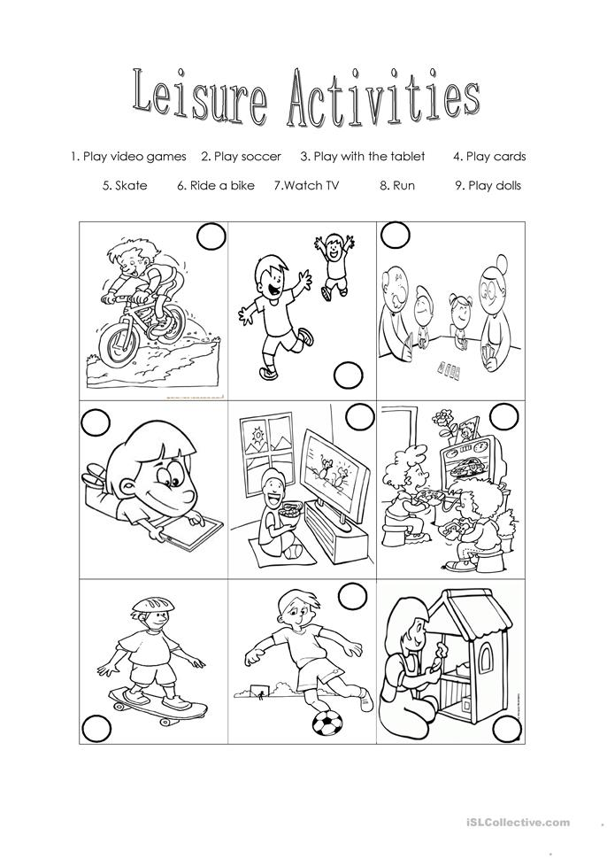 Activities Worksheets - Templates and Worksheets