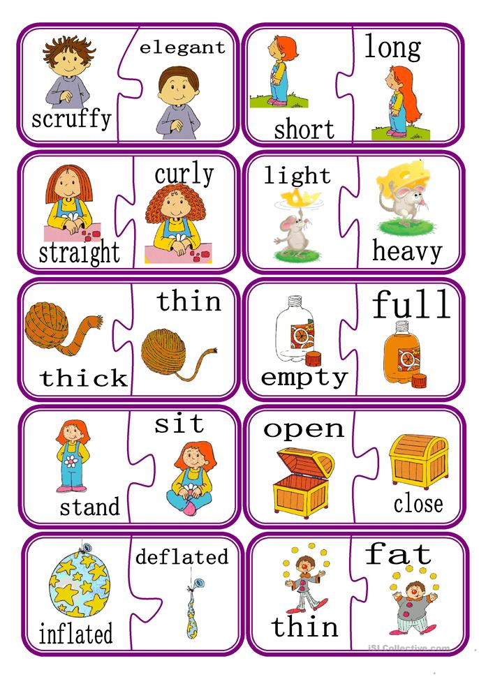 Printables Adjective For Elementary School 121 free esl adjectives opposites worksheets puzzle game part 2