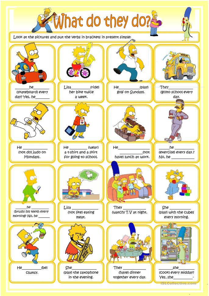 ... Simpsons worksheet - Free ESL printable worksheets made by teachers