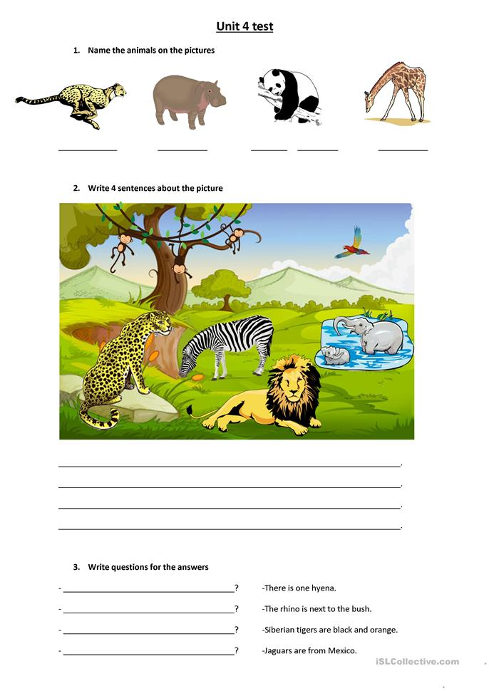 Wild animals there is there are worksheet free esl for There is there are pictures