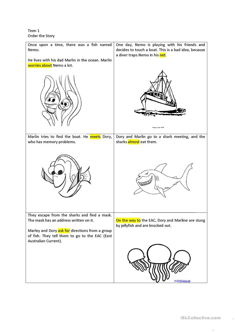 Uncategorized Finding Nemo Worksheet 5 free esl finding nemo worksheets lesson plan