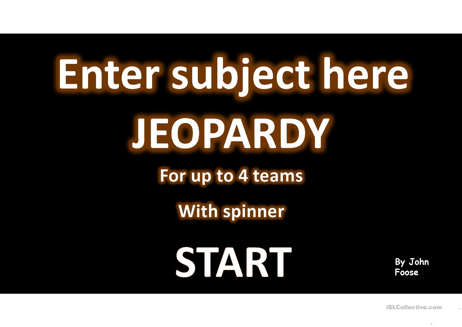 jeopardy templates for powerpoint gallery - templates example free, Powerpoint templates