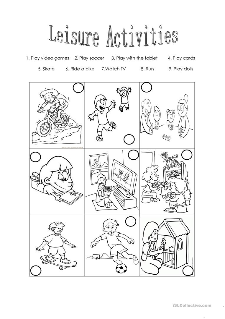 Leisure activities - English ESL Worksheets