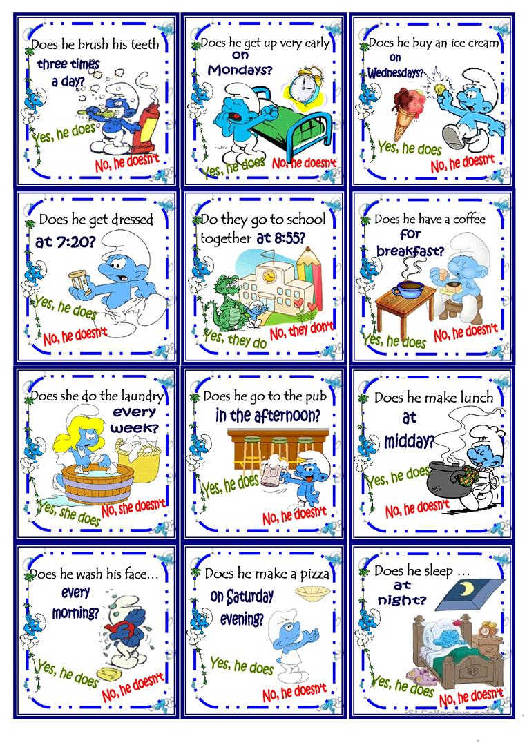 image relating to Printable Go Fish Cards named Shift Fish Does S He Such as Worksheet Cost-free Esl Printable
