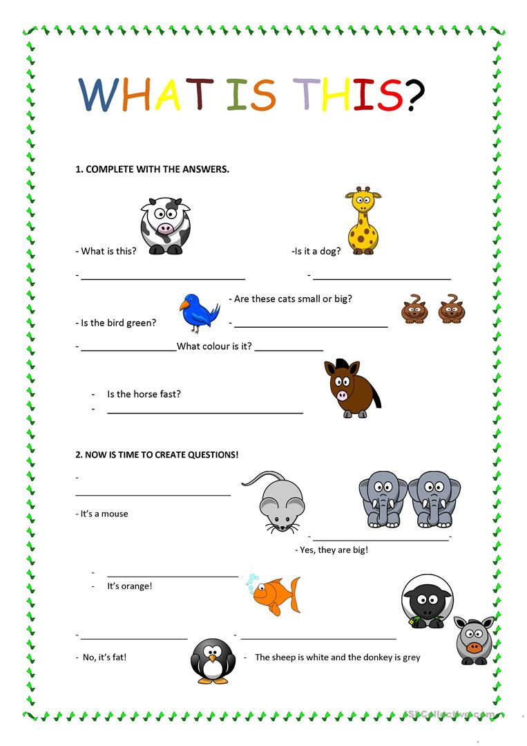 What is it? - English ESL Worksheets