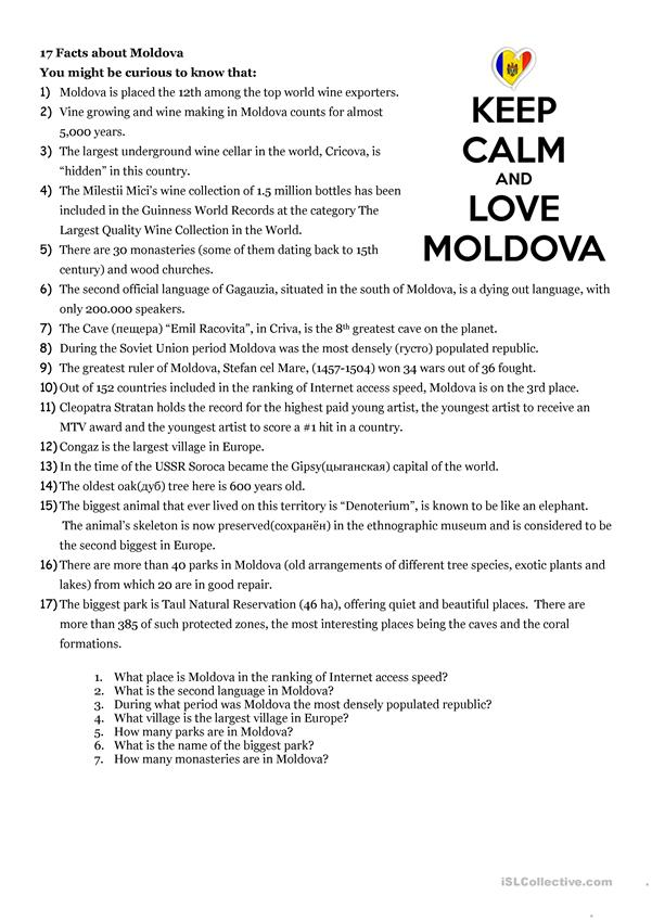 17 Facts about Moldova