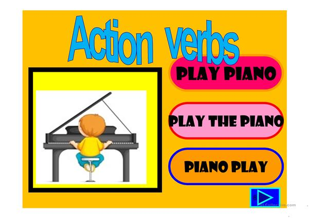 action verbs : 55 slide quiz