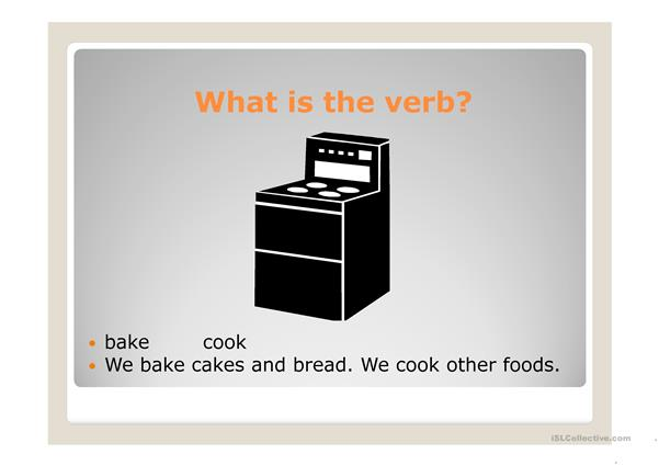 cooking verbs