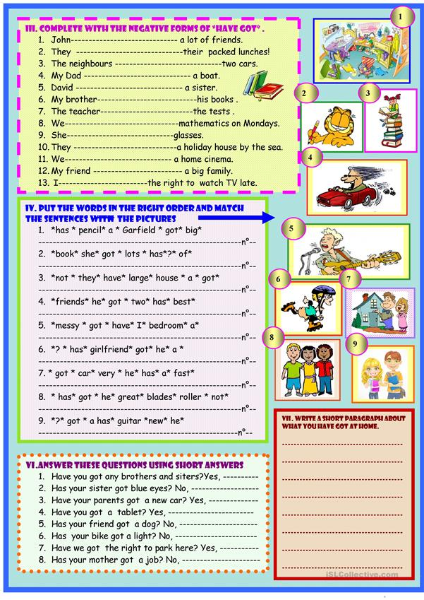 Have you got :grammar guide and exercises on 2 pages