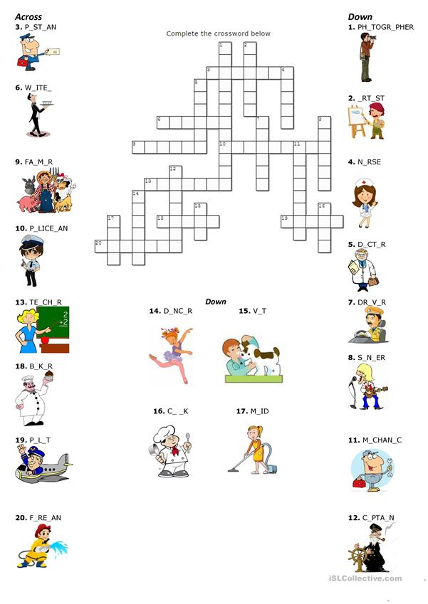 Jobs Crossword
