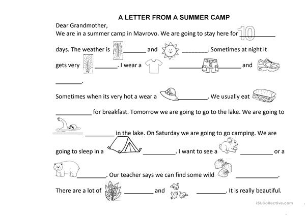 Letter from a summer camp 2