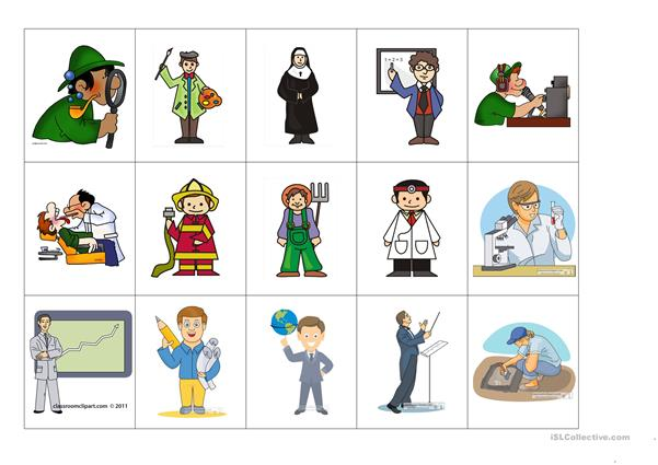 Occupations Flash Cards