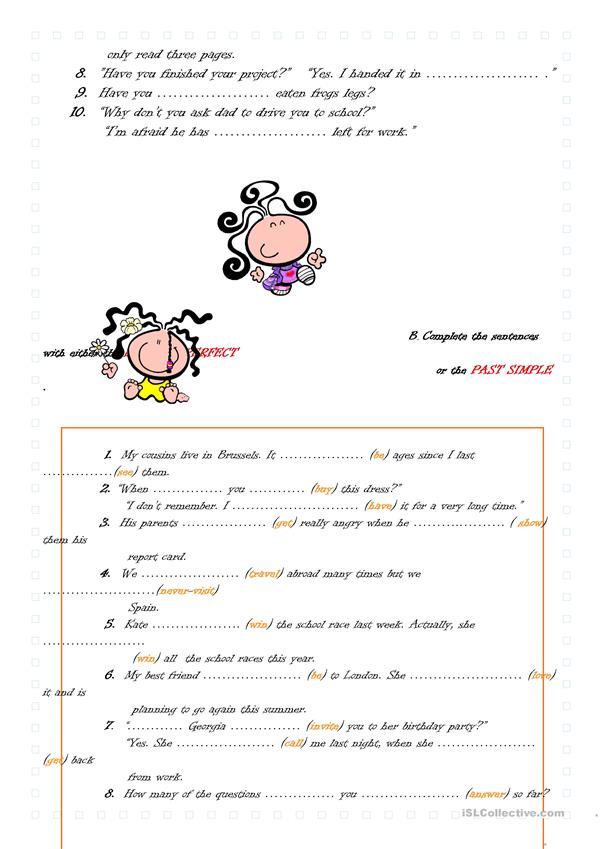 PRESENT PERFECT SIMPLE VS PAST SIMPLE