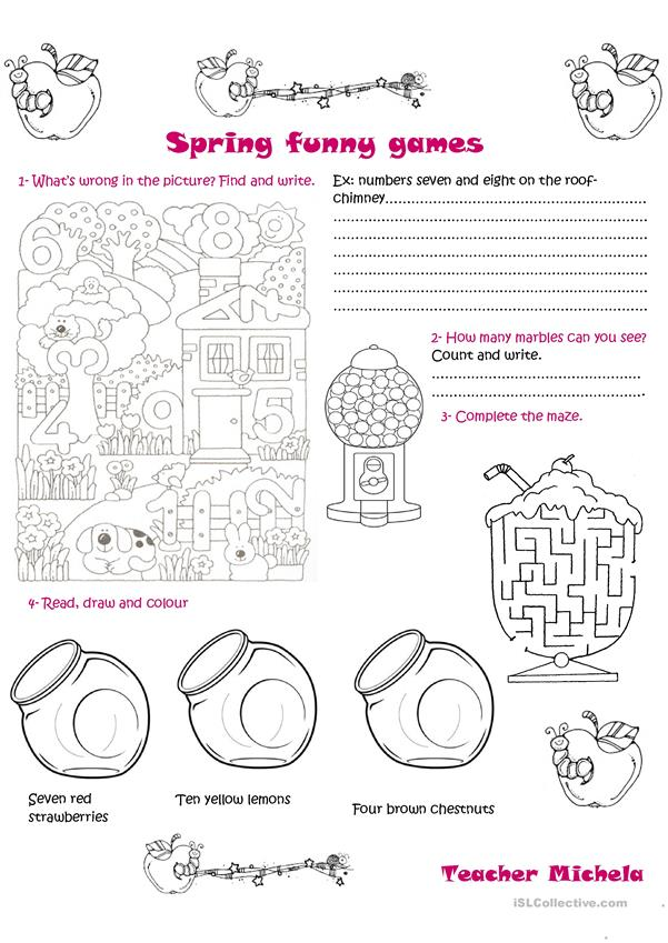 Spring funny games