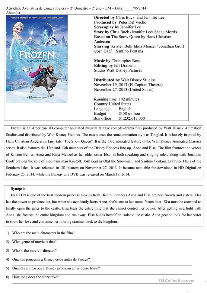 Free reading comprehension worksheets for elementary school
