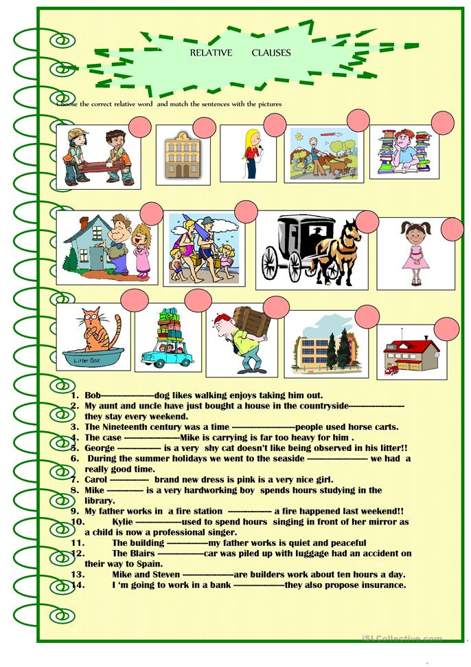 Printable Special Needs Worksheets : Relative clauses worksheet free esl printable worksheets