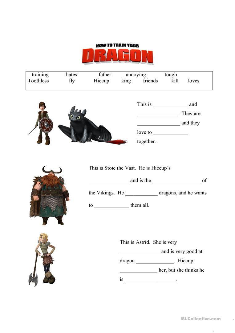 How to train your dragon worksheets the best and most how to train your dragon characters ccuart Choice Image