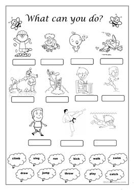 esl kids worksheets action verbs worksheet for preschoolers esl best free printable worksheets. Black Bedroom Furniture Sets. Home Design Ideas