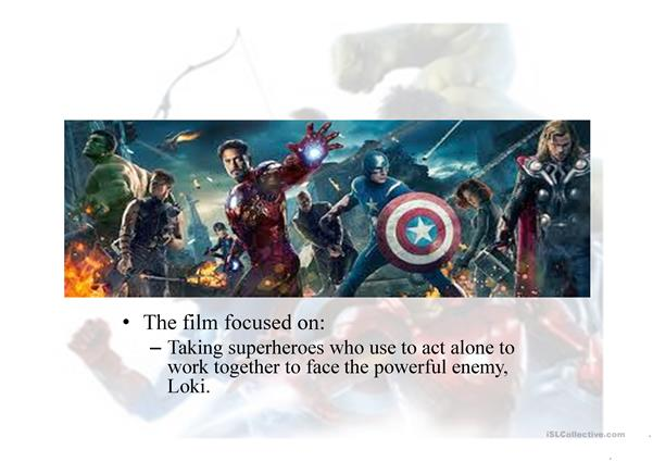 Adjectives with the Avengers