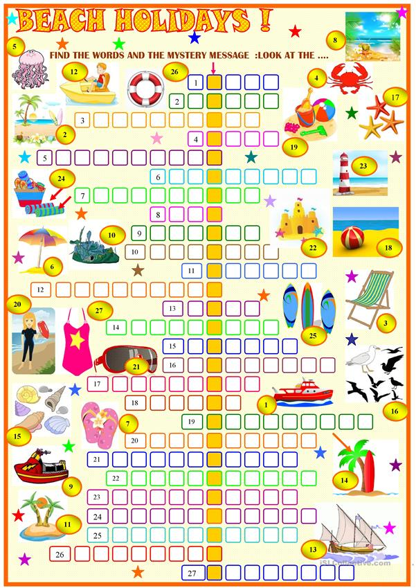 Beach holidays : crosswords with key