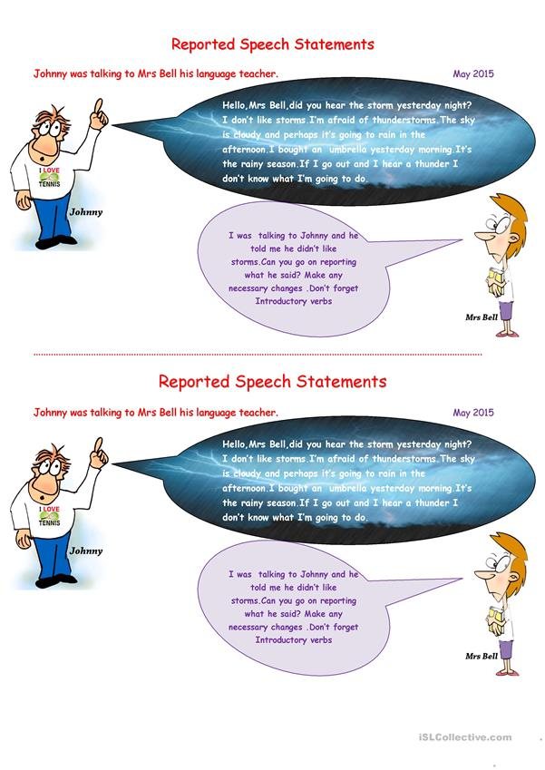 Reported Speech Statements May2015.