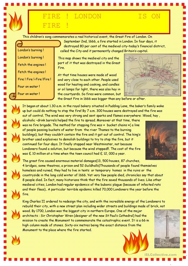 The great Fire of London : reading