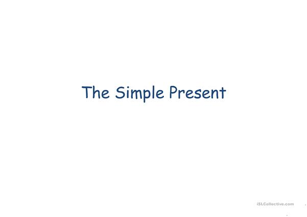 the simple Present