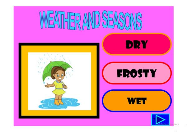 Weather and seasons powerpoint