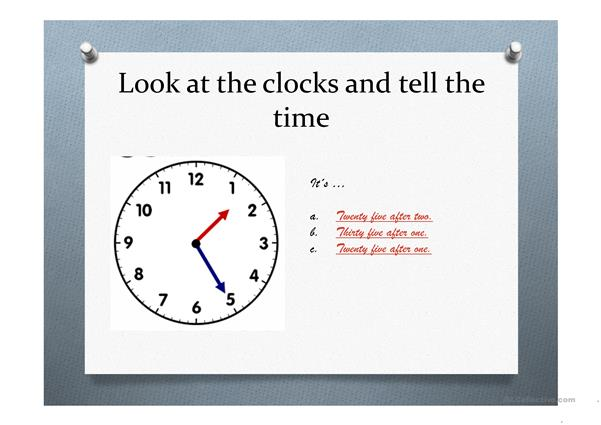 What´s the time? AMERICAN ENGLISH