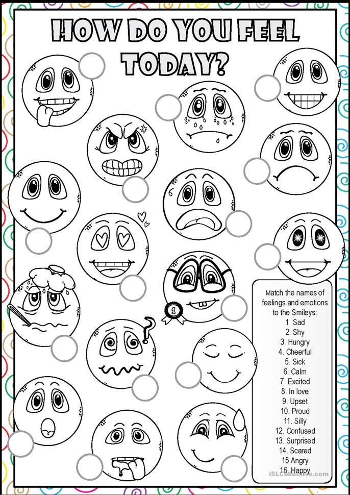 Free Worksheets u00bb Worksheets About Feelings - Free Math ...