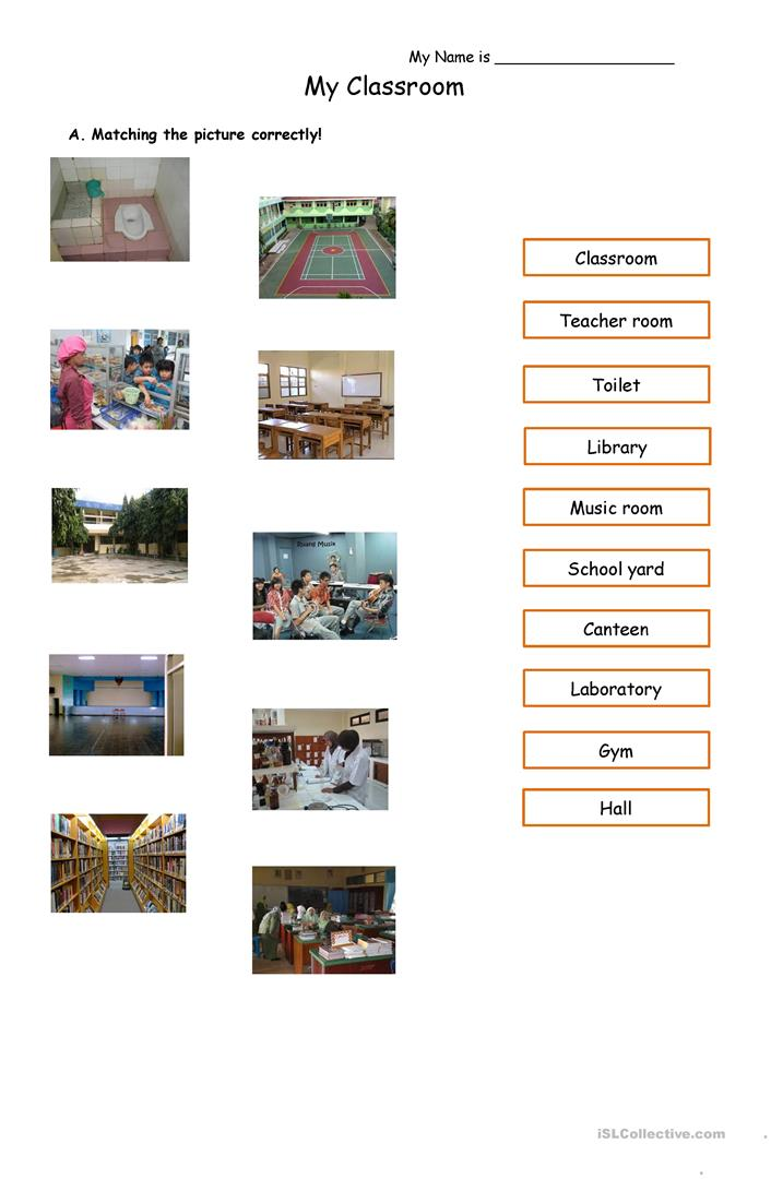 Classroom - English ESL Worksheets For Distance Learning And Physical  Classrooms