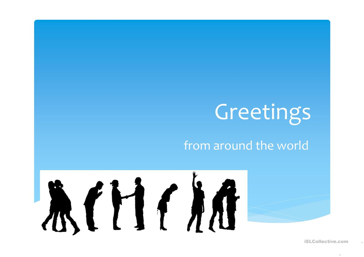 Greetings from around the world worksheet free esl projectable greetings from around the world full screen m4hsunfo