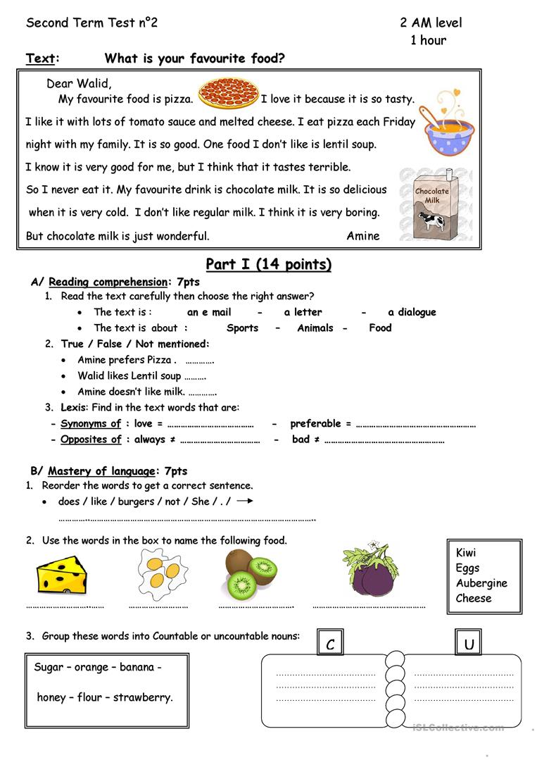what is work sheet what is your favourite food worksheet free esl 653