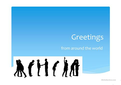 Greetings from around the world worksheet free esl projectable greetings from around the world m4hsunfo Gallery