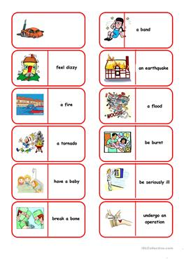 English ESL Health, going to the doctor worksheets - Most